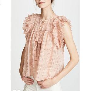 Ulla Johnson blouse in blush color, size 2